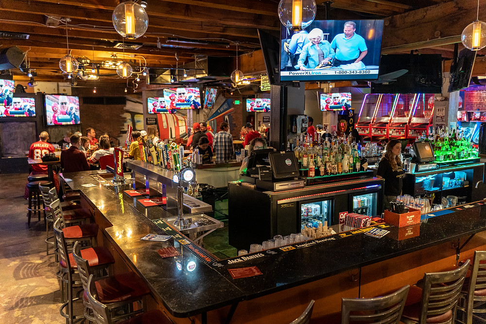 Best Local Restaurants in Denver - Blake Street Tavern has a downtown Arcade Bar with lots of Games