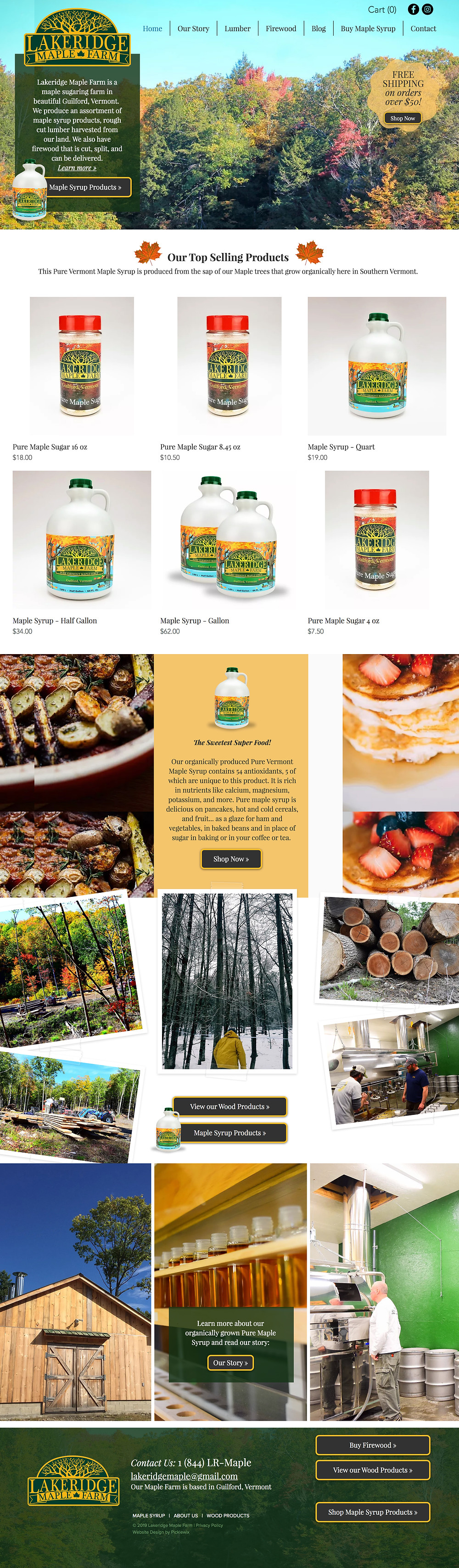 Garden Website Template for Maple Syrup Farm in Guilford, Vermont