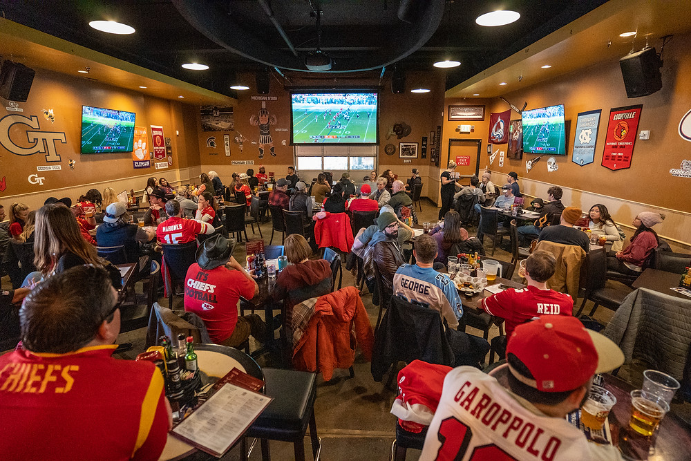 Tailgate Room at Blake Street Tavern for Football Watch Parties in Denver