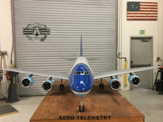 Aero Telemetry designed Air Force One. 1/18th scale flyable 747 model.