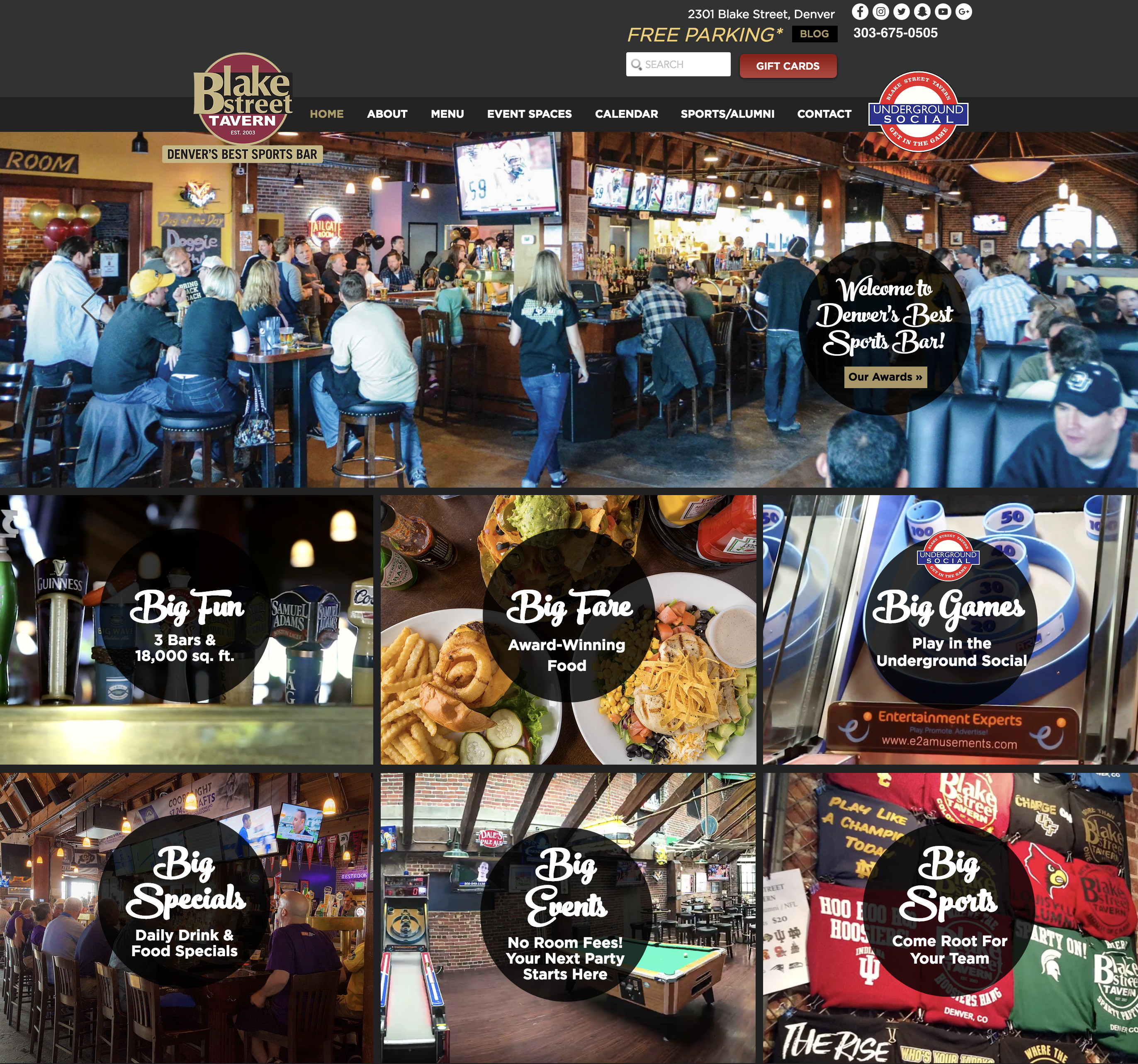Website Design for Denver Restaurant