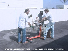 Joe, John, and Roger on a typical day engine testing