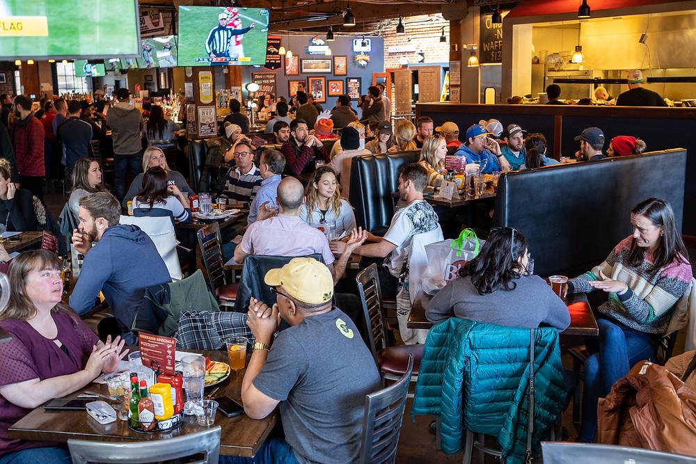 Best Restaurant in Downtown Denver - Plenty of Seating at Blake Street Tavern