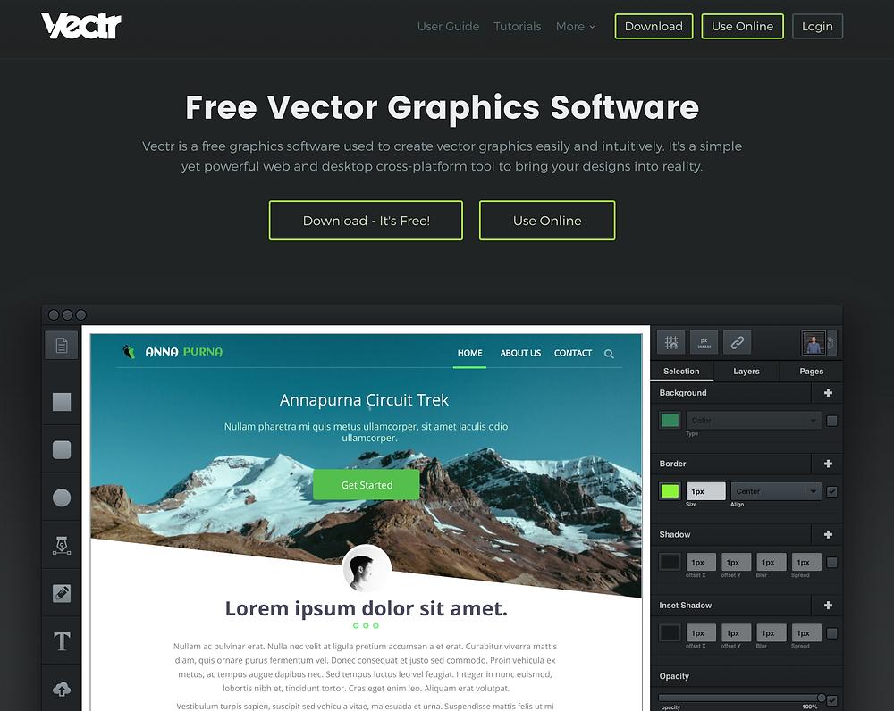 Online Vector Editing Program