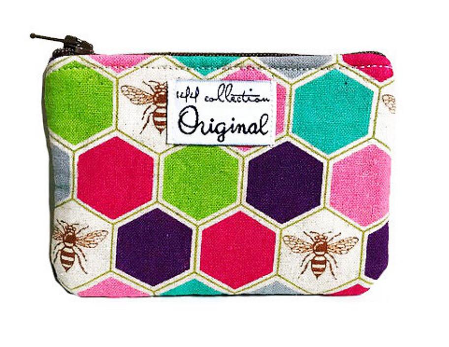 Handmade Coin Purse - Busy Bee Fabric