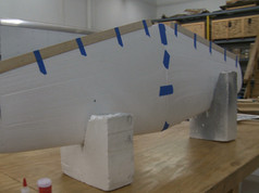 Spruce Goose Horizontal Stabilizer after joining together and adding trailing edge stock.
