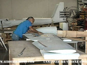 Roger rebuilding lower section of wing