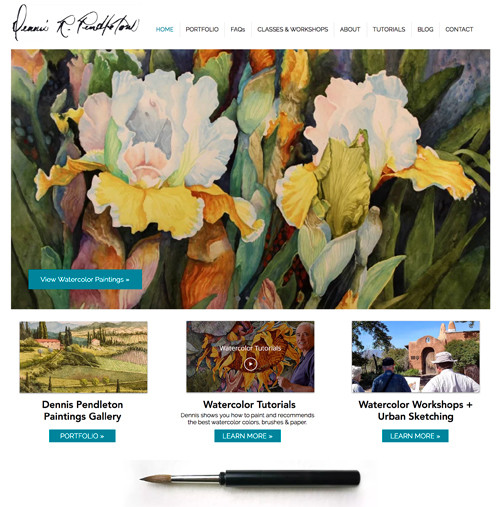 Denver Website Design for Watercolor Artist, Dennis Pendleton