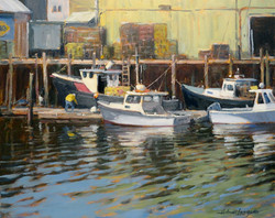Rockport Lobster boats 16x20