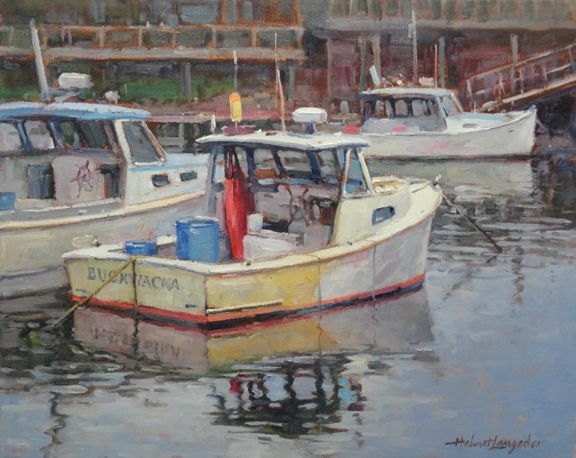 At harbour  Perkins Cove Ma 16x20