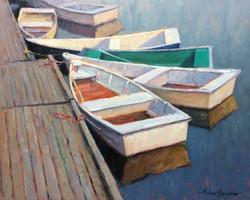 Six rowboats 16x20