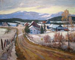 Crossroads, Charlevoix 20x24