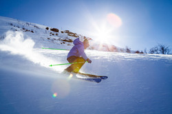 Skiing Tremblant.