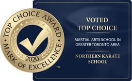 Northern Karate Receives Top Choice Award