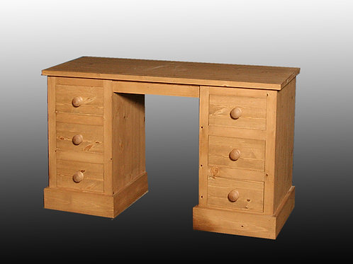 Shaker Style Double Pedestal Dressing Table