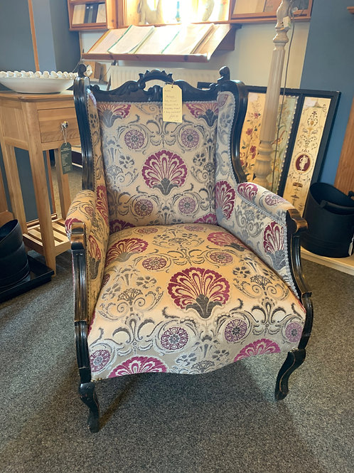 Upholstered Edwardian Parlor/Occasional Chair