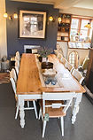 reclaimed pine dining table and chairs