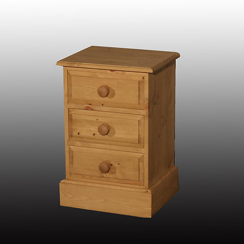 Edwardian 3 Drawer Bedside