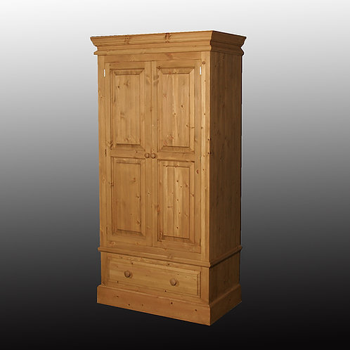 Edwardian Single 2  Door Wardrobe with Drawer