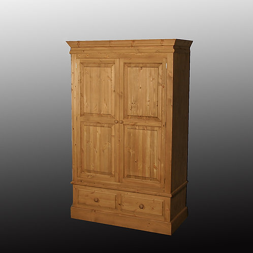 Edwardian Double Wardrobe with Two Drawers