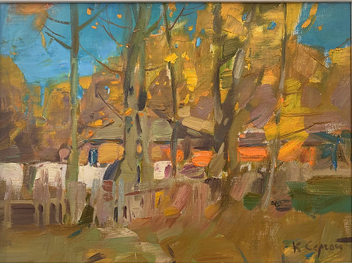 A Village in Autumn - Sergei Kovalenko