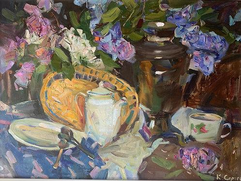 Still Life with Flowers - Sergei Kovalenko