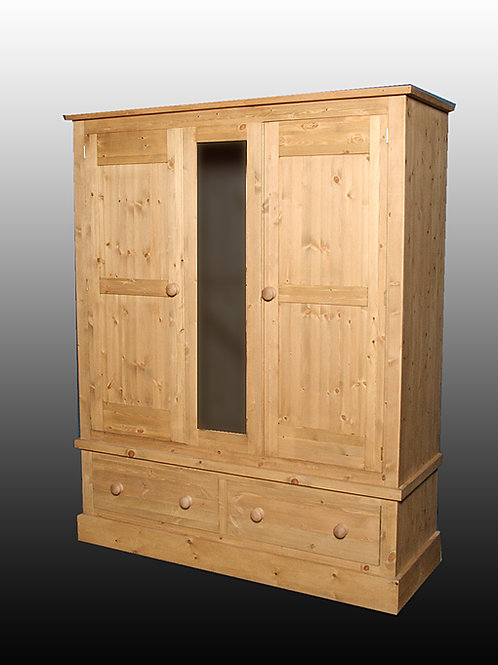 Shaker Style 5ft Wardrobe with a Centre Panel
