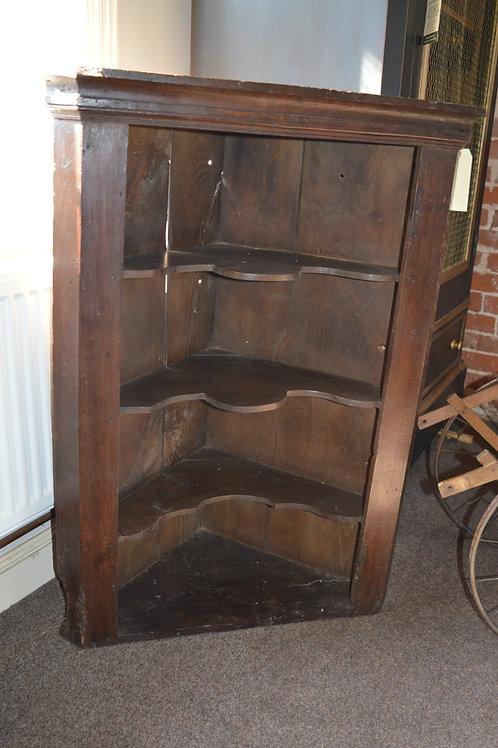Georgian Oak Corner Shelves