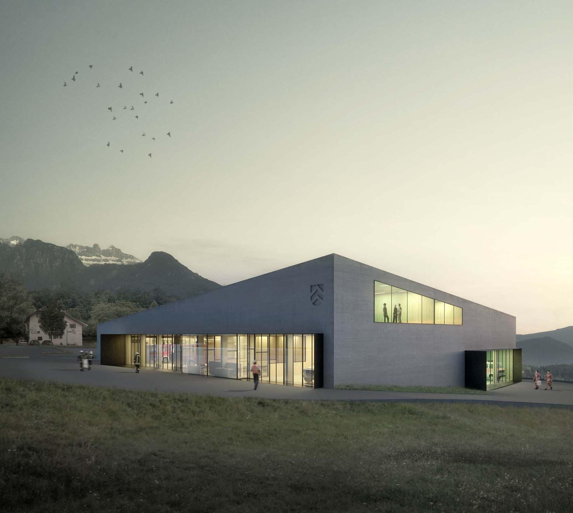 Wettbewerb Zivilschutzzentrum Ritten