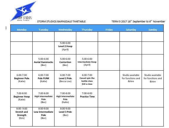 Bairnsdale Timetable