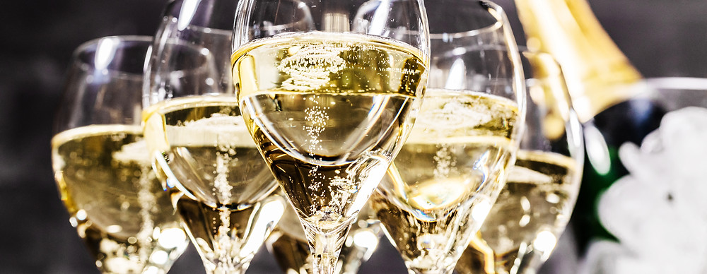 Prickelnder Champagner - Frohes neues Jahr!