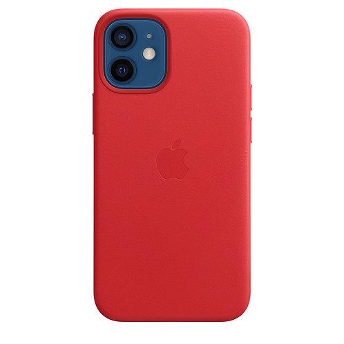 Кожаный чехол MagSafe для iPhone 12 mini, алый цвет (PRODUCT)RED