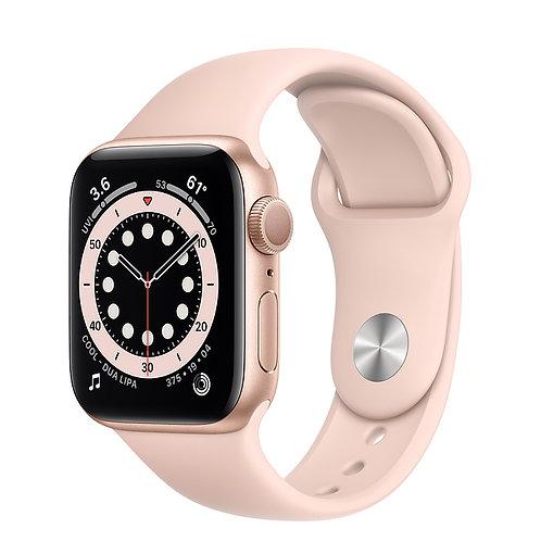 Apple Watch S6 40mm Корпус из алюминия золотого цвета Спортивный ремешок