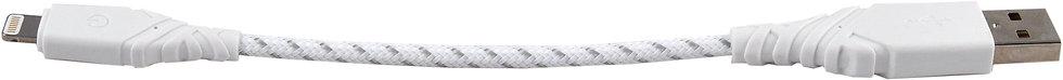 Кабель EnergEA NyloGlitz Lightning MFI 0.18 м, белый