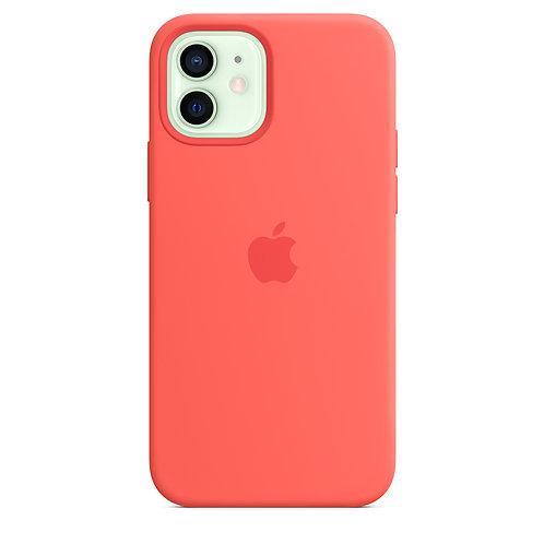 Силиконовый чехол MagSafe для iPhone 12 и iPhone 12 Pro, цвет «розовый цитрус»