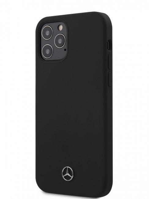 Чехол-накладка для iPhone 12/12 Pro Mercedes Liquid silicone Hard, цвет черный