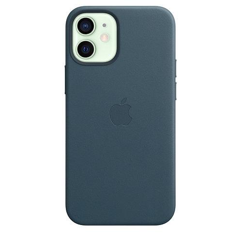 Кожаный чехол MagSafe для iPhone 12 mini, цвет «балтийский синий»