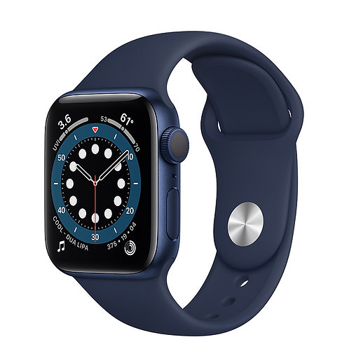 Apple Watch S6 44mm Корпус из алюминия синего цвета Спортивный ремешок