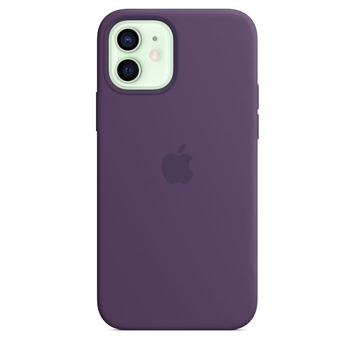 Силиконовый чехол MagSafe для iPhone 12 и iPhone 12 Pro, цвет «аметист»
