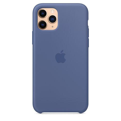 Силиконовый чехол для iPhone 11 Pro Max, цвет «синий лён»