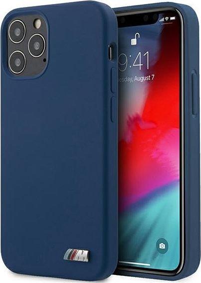 Чехол-накладка для iPhone 12 Pro Max BMW M-Collection Liquid silicone Hard синий