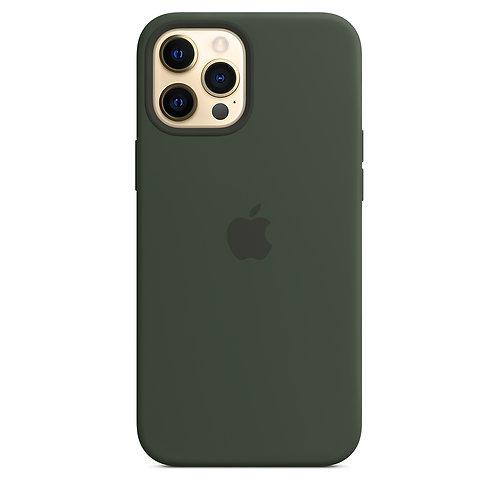 Силиконовый чехол MagSafe для iPhone 12 Pro Max, цвет «кипрский зелёный»