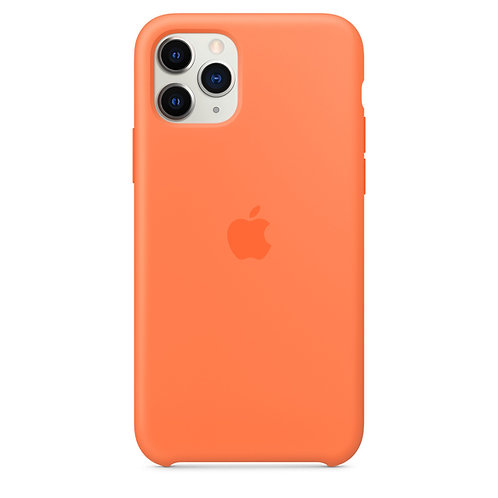 Силиконовый чехол для iPhone 11 Pro Max, цвет «оранжевый витамин»