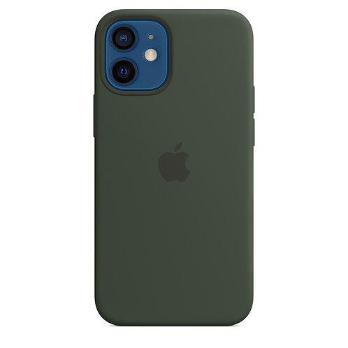 Силиконовый чехол MagSafe для iPhone 12 mini, цвет «кипрский зелёный»