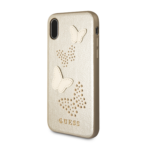 Чехол Guess для iPhone X/Xs, золотой