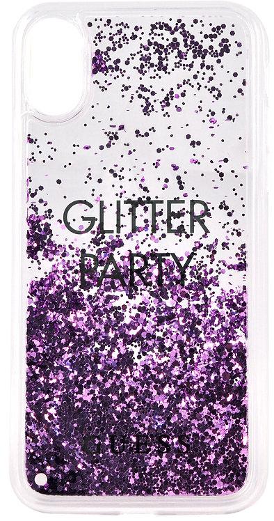 Чехол Guess для iPhone X/Xs, фиолетовый