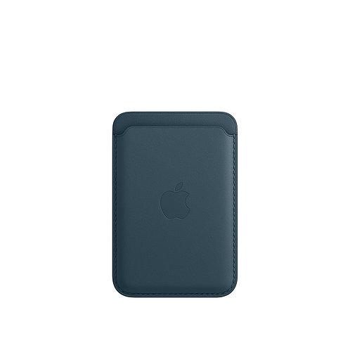 Кожаный чехол-бумажник MagSafe для iPhone, цвет «балтийский синий»