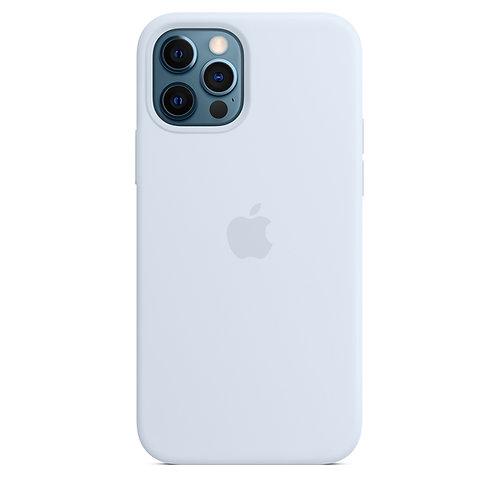 Силиконовый чехол MagSafe для iPhone 12 Pro Max, дымчато-голубой цвет