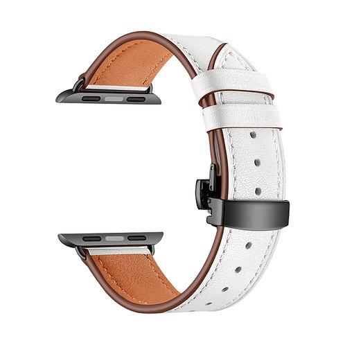 Ремешок Lyambda Annet Mancini кожаный для Apple Watch 42/44 mm, White