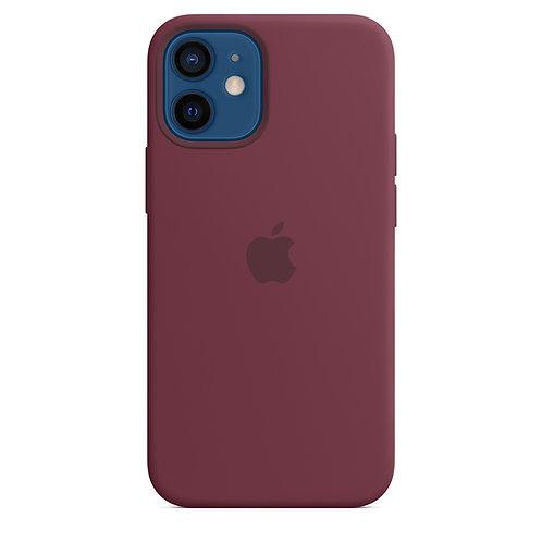 Силиконовый чехол MagSafe для iPhone 12 mini, сливовый цвет